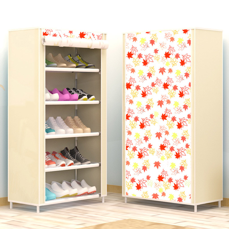 Shoe cabinet 6-layer 5-grid Non-woven fabrics large shoe rack organizer removable shoe storage for home furniture<br>