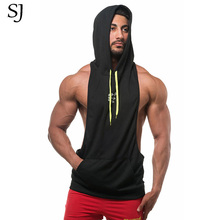 2017 gyms Golds vest Men Cotton Hoodie Sweatshirts fitness clothes bodybuilding tank top men Sleeveless Sportswear Tees Shirt(China)