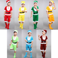 Seven Dwarfs costume for children christmas costumes for kids snow white princess and the seven dwarfs festival cosplay