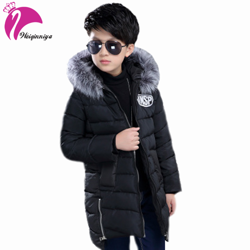 Childrens Clothing Winter Jacket For Boy Down Jacket Casual Warm Thicken Outerwear &amp; Coats Fur Boys Winter CoatsÎäåæäà è àêñåññóàðû<br><br>