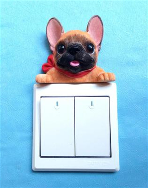 French Bulldog cute puppy dogs resin switch stickers fridge magnets - Buyer's Show 22