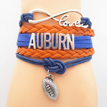 infinity love auburn football team fans bracelet hot sale rugby team bracelet jewelry