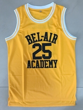 The Fresh Prince of Bel-Air Carlton Banks 25 Bel-Air Academy Basketball Jersey Yellow(China)