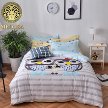 Medusa 100% cotton fantastic sunflower bedding set queen/full single size 3/4pcs duvet cover set(China)