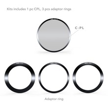 NiSi 100mm System V5 Filter Holder Kit- 67mm 72mm 77mm Adaptor Ring+ Holder Ring+cpl Compatible with Lee Cokin Hitech Singh-ray