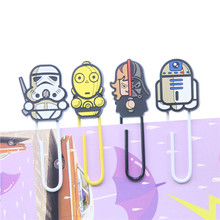 Novelty Star Wars Paper Clip Bookmark Promotional Gift Stationery School Office Supply Escolar Papelaria(China)