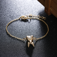 Fashion Charm Gold Color Tooth Bracelets For Women Summer Bracelet Adjustable Bijouterie Bracelet Jewelry Tooth Pulseira Feminin