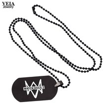 Game Anime Watch Dogs Logo Pendant Necklaces Vintage Stainless Steel Necklace Men Women Gift Game Jewelry Accessories Souvenir