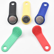 10pcs/lot 1990A-F5 TM card tm sauna lock card Dallas ibutton touch memory button with handle For guard tour not rewritable