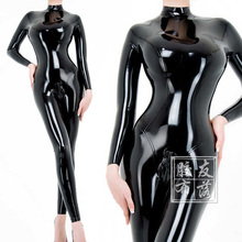 Buy LATEX CATSUIT WOMEN BODYSUIT BACK ZIP HIGH NECK CUSTOMIZED