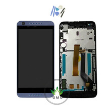 For HTC Desire 626 LCD Display+Touch Screen Digitizer Glass Panel bezel frame assembly complete white blue + tools