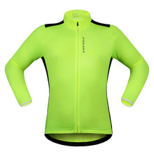 Long Sleeve Cycling Jacket Men Women Autumn Winter Bike Clothing Wind Jackets Cycle Cycling Jacket Fluorescent Green White Black