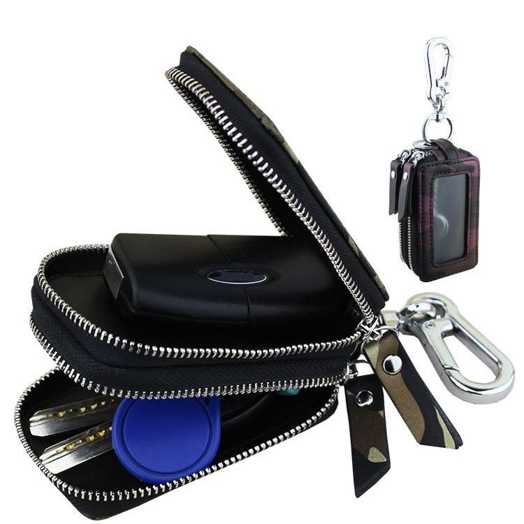 Excellent Car Key Smart Storaging Organizer Pocket Super High-Class Leather Storage Bag Door Keys Coins