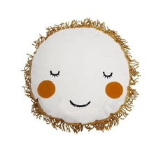 Lovely Cartoon Smile Face Cushion Pillow Calm Sleep Toys Nordic Kids Bed Decor Photo Props Room D(China)