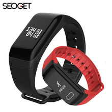 Seoget smart wristband Heart Rate/blood pressure fitness Smart bracelet call reminder Passometer fitness activity tracker(China)