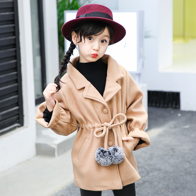 New Arrival 2017 Girls Faux Fur Coats Warm Thick Children Clothing Boutique Winter Outerwear Big Girl Wool Blends Jacket Brand<br>