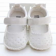 Baby Girl Summer Shoes Princess Prewalker Shoes Pure White Soft Sole Infant Leisure First Walkers Girl Toddler Shoes 0-18M 2016