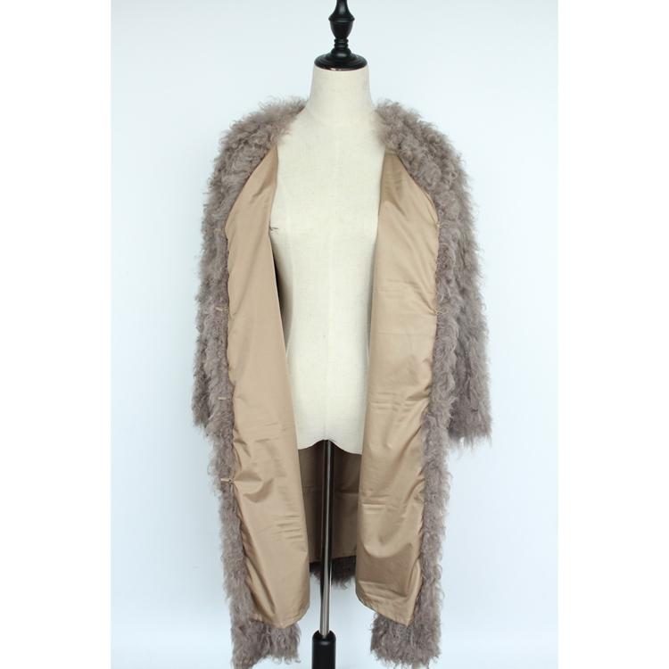women natural lamb sheep fur coat (5)