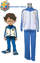 Free Shipping Inazuma Eleven Inazuma Japan Soccer team Winter Uniform Anime Cosplay Costume(China)