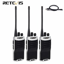 3pcs Retevis RT7 Talkie Walkie 5W UHF 400-470MHz CTCSS/DCS FM Radio(88-105MHz) Handy 2 Way Radio Amateur Radio Set Hunting Radio