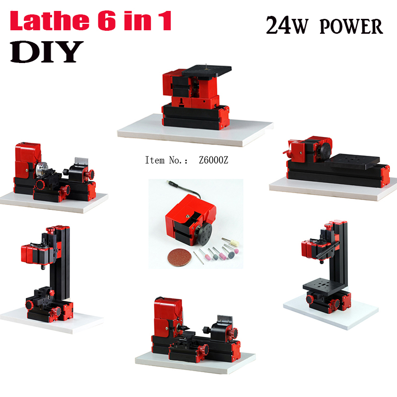 diy 6 in 1 Mini Lathe,Milling,Drilling ,Wood Turning ,Jag Saw and Sanding Machine,Mini Combined Machine Tool, DIY Tool ship DHL<br><br>Aliexpress