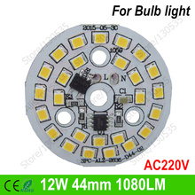12W 44mm 26leds ac220v led pcb 2835 integrated ic driver+connect wire, driverless smd pcb module for downlight bulb panel light