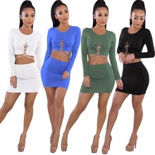 Buy Fashion Sexy Womens Two Piece Sets 2018 Female Summer Suit Bandage Sexy Two Piece Set Short Top skirt Womens Clothing for $9.55 in AliExpress store