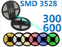 5M WATERPROOF LED Strip light SMD 3528 RGB warm white IP65 300 / 600 leds rgb led tape roll flexible neon stripe cinta ribbon