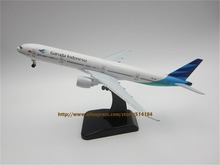 19cm Airplane Model Air Garuda Indonesia Airlines B777 300ER Boeing 777 Airways Plane Model W Stand Wheels Landing Gear Aircraft(China)