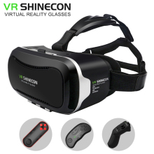 VR Shinecon 2.0 VR box Virtual Reality goggles 3D Glasses google cardboard for 4.3-6.0 inch Android IOS smartphones(China)