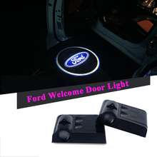 2pcs LED Projector Car Courtesy Logo Light For Ford Focus 2 3 1 Fiesta Mondeo 4 Transit Fusion Kuga Ranger Mustang S-max Galaxy