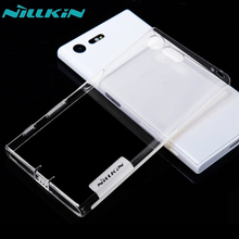 Nillkin Cover for Sony Xperia X Compact Case Transparent Soft TPU Silicone + Dust Plug Cover for Xperia X Compact Case Shield