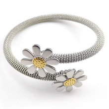 2017 Time-limited Trendy Fine Jewelry Pulseiras New Fashion Jewelry Bracelets For Women Stainless Steel Elastic Flower Bangles