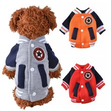 Ropa de Perro de uniforme de béisbol abrigo cálido Ropa de Perro cachorro  traje Para Ropa 8171c6257af41