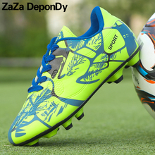 Mens Soccer Cleats Football Shoes Women Sneakers Long Spikes Outdoor Soccer Football Boots Men Chuteira Futebol Voetbal