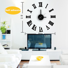 DIY Self Adhesive Wall Clock Sticker Large Wall Clock with roman numerals hanging on the wall home decor Kitchen Watch