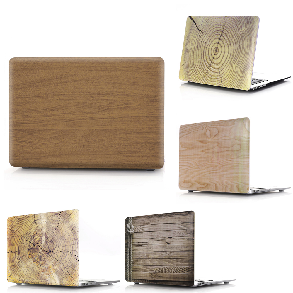 Viviration Wood Pattern Case For Macbook Air 13.3 11 Pro Retina 12 13 15 Laptop Cover Hard PVC Replace Shell For Mac Book 11 13