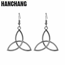 Women Charm Jewelry Outlander Scottish Irish Triangle Dangle Earring Hollow-out Drop Earring For Lady Dress Decoration(China)