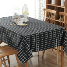 Hot Sale Canvas Tablecloth Plaid Pattern Rectangular Table Cloth Dust Proof Covers for Table Home Party Tablecloths
