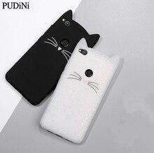 Cute 3D Cartoon Beard Cat Kitty Glitter Phone Case Xiaomi Redmi 5 Note5 S2 4X Note4X Mi8 A2 Soft Silicone Cover Fundas Coque
