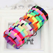 Hot 12Pcs/Pack Girls Fashion Candy Color Elastic Headband Stretchy Hair Rope Rubber Bands