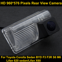 PAL HD 960*576 Pixels Car Parking Rear view Camera for Toyota Corolla Sedan 2007 2008 2009 2010 2011 2012 2013 BYD F3 F3R S6 M6(China)