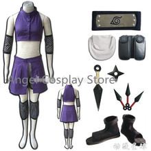 Free DHL Shipping Naruto Yamanaka Ino Figure Uniform Cosplay Anime Naruto Costume V2 Ninja Outfit Bags Belt Shoes Whole Set