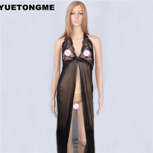 YUETONGME M  L XL XXL  Women's Sexy Lingerie long dress Sleepwear Underwear Night fire Dress+G-string    M343