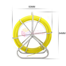 6mm New Fish Tape Electric Reel Fiberglass Wire Cable Running Rod Duct Rodder Fishtape Puller for Floor Conduit and Telecom Wall
