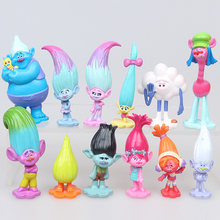 Trolls Movie 12Pcs/Set Dreamworks Figure Collectible Dolls Poppy Branch Biggie Figures Doll Toy Trolls Figures Toys For Kids