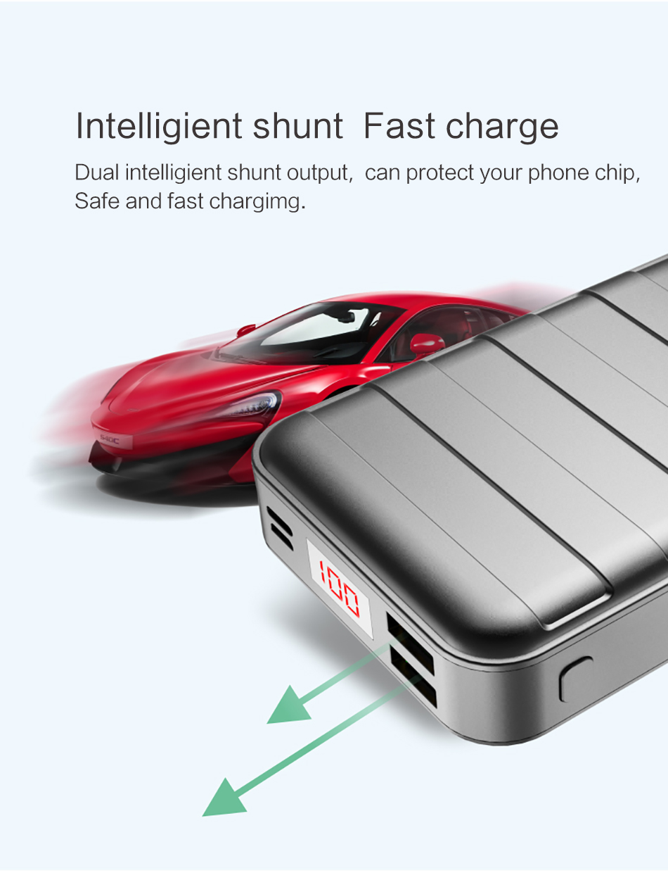 Power Bank 000mAh USAMS LCD Portable PowerBank External Battery Dual USB Charger For Xiaomi iPhone 7 6 6S 5 Mobile Phones Tab 13