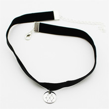Korea POP Group EXO EXACT Leather Titanium Steel Pendant Choker Necklace Women Men Jewelry Collares B635