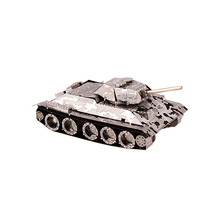T-34 Tank 3D Metal Puzzle DIY Toys For Boy Assembly Model Stainless Steel Educational Toys IQ Puzzles For Adult/Children(China)
