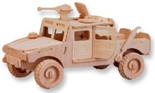 LeadingStar 3D Wooden Puzzle Hummer Jeep Model Children and Adult's Educational Building Blocks Puzzle Toy